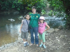 Carolyn and her students on a field trip!